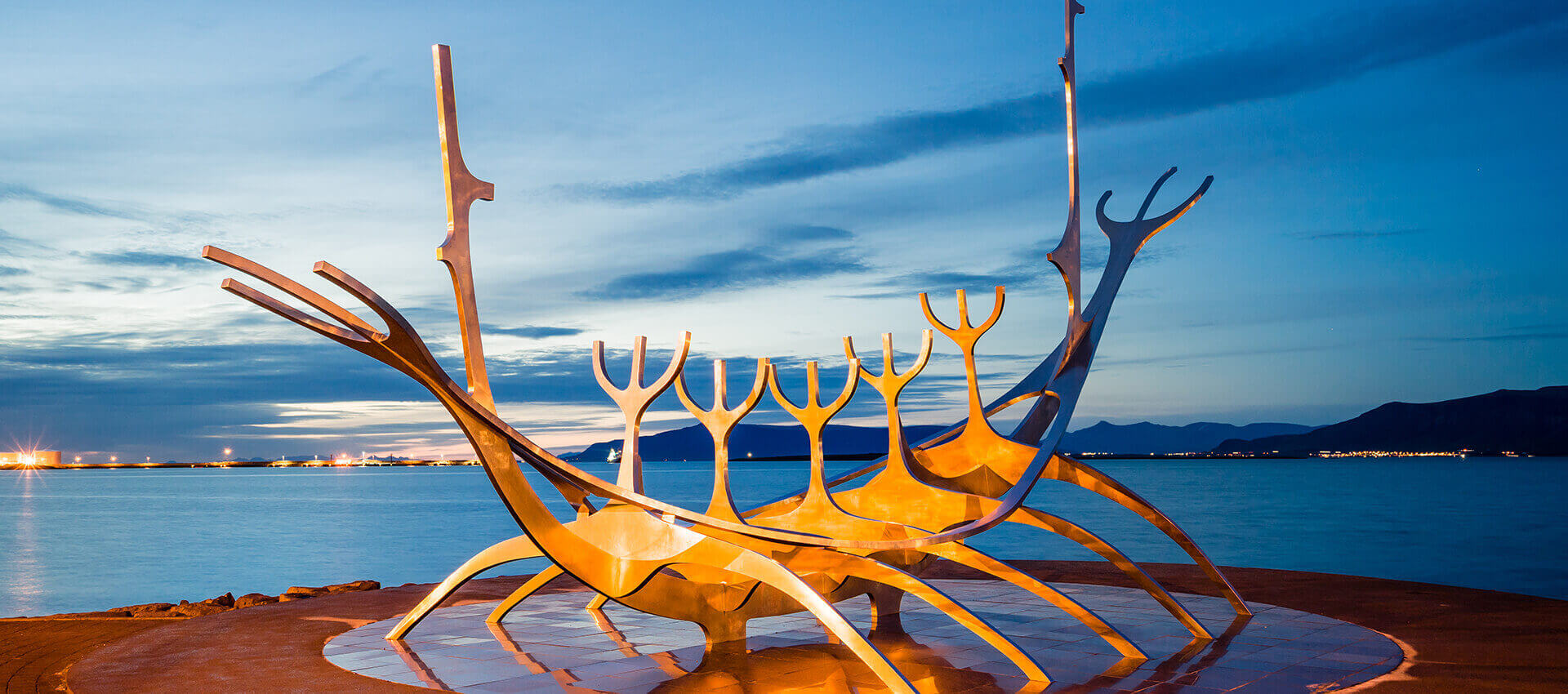 Sculpture of a boat in Iceland